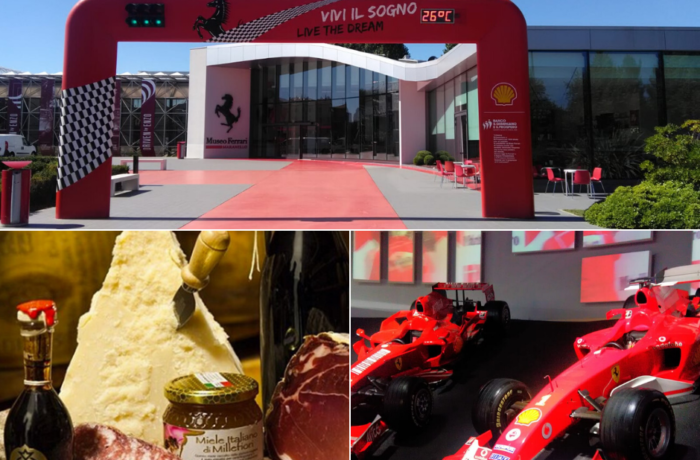 Modena Tour: Ferrari museum and local products.